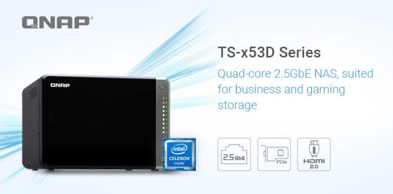 NP: QNAP presenta la serie de NAS 2,5GbE TS-x53D