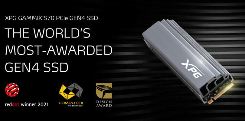 NP: XPG GAMMIX S70 gana el premio COMPUTEX d&i 2021